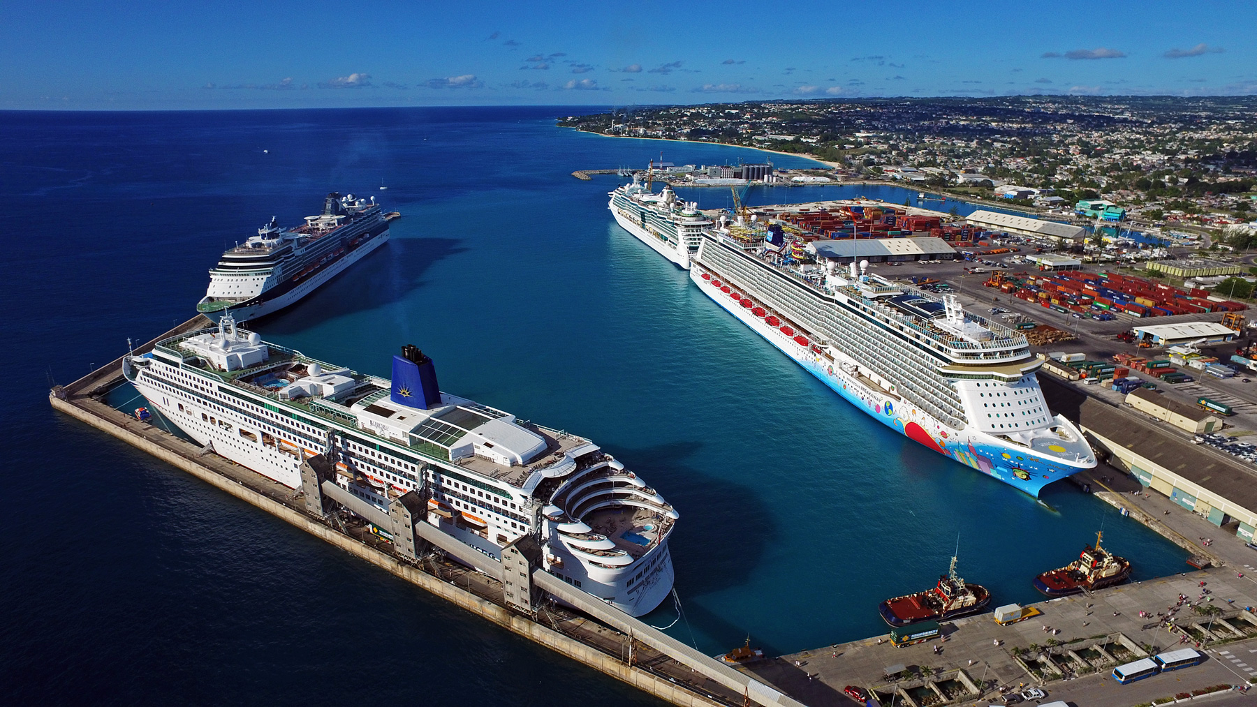 cruise ship photography for the barbados port authority recent drone aerial work from above