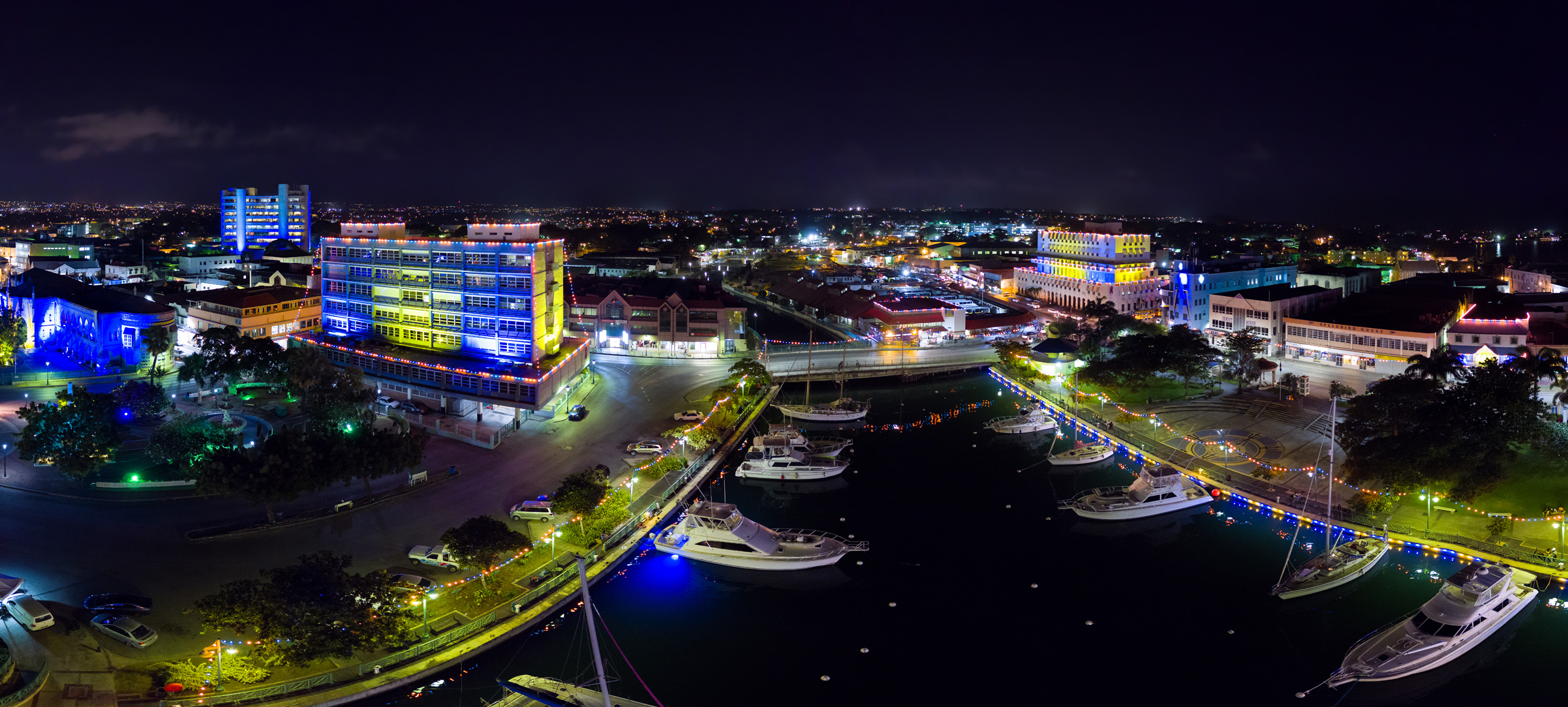 Barbados 50th Anniversary Independence Lights Bridgetown