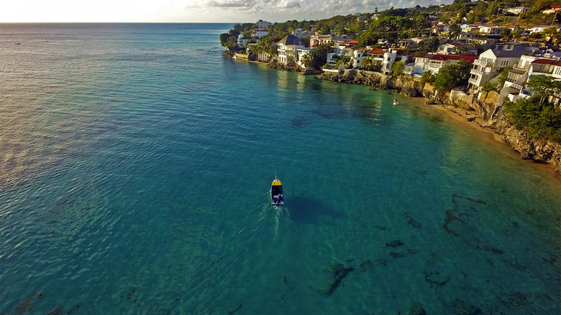Batts Rock on the West Coast of Barbados during the late afternoon