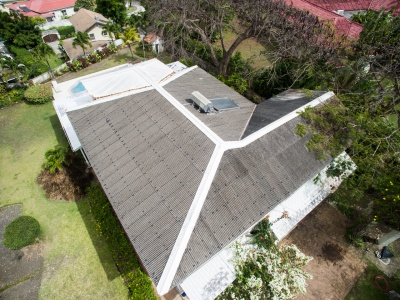 Roof Inspection Recent Drone Aerial Work From Above